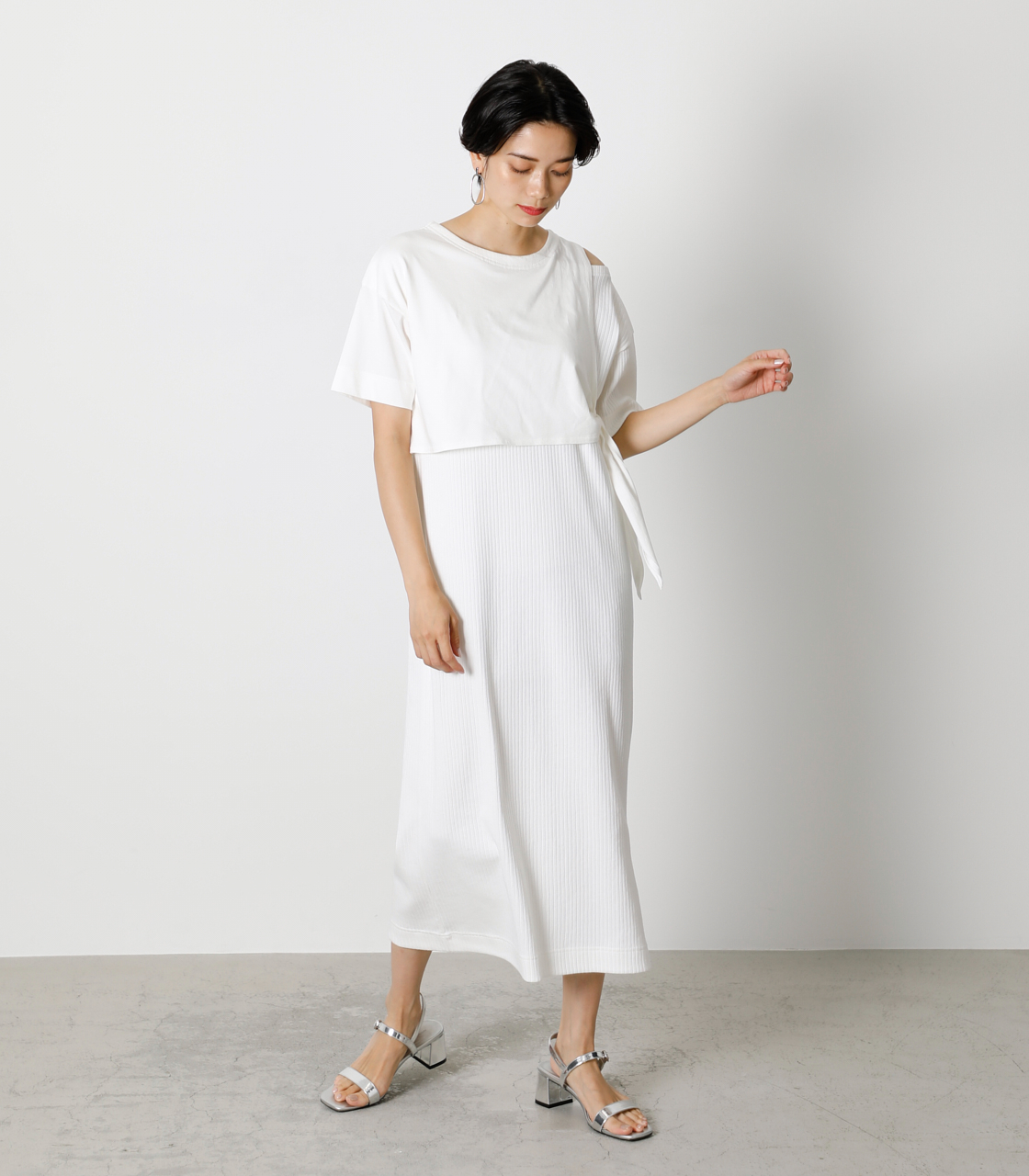 FRONT LINK ONEPIECE/フロントリンクワンピース 詳細画像 O/WHT 1