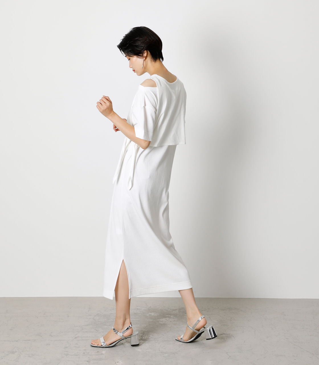FRONT LINK ONEPIECE/フロントリンクワンピース 詳細画像 O/WHT 3