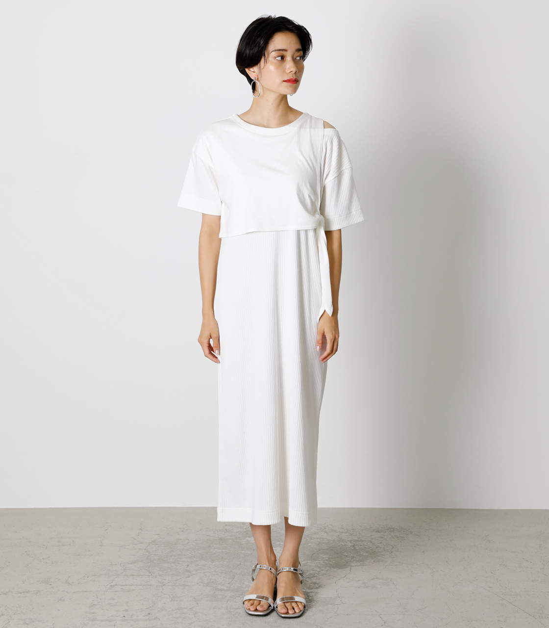 FRONT LINK ONEPIECE/フロントリンクワンピース 詳細画像 O/WHT 4