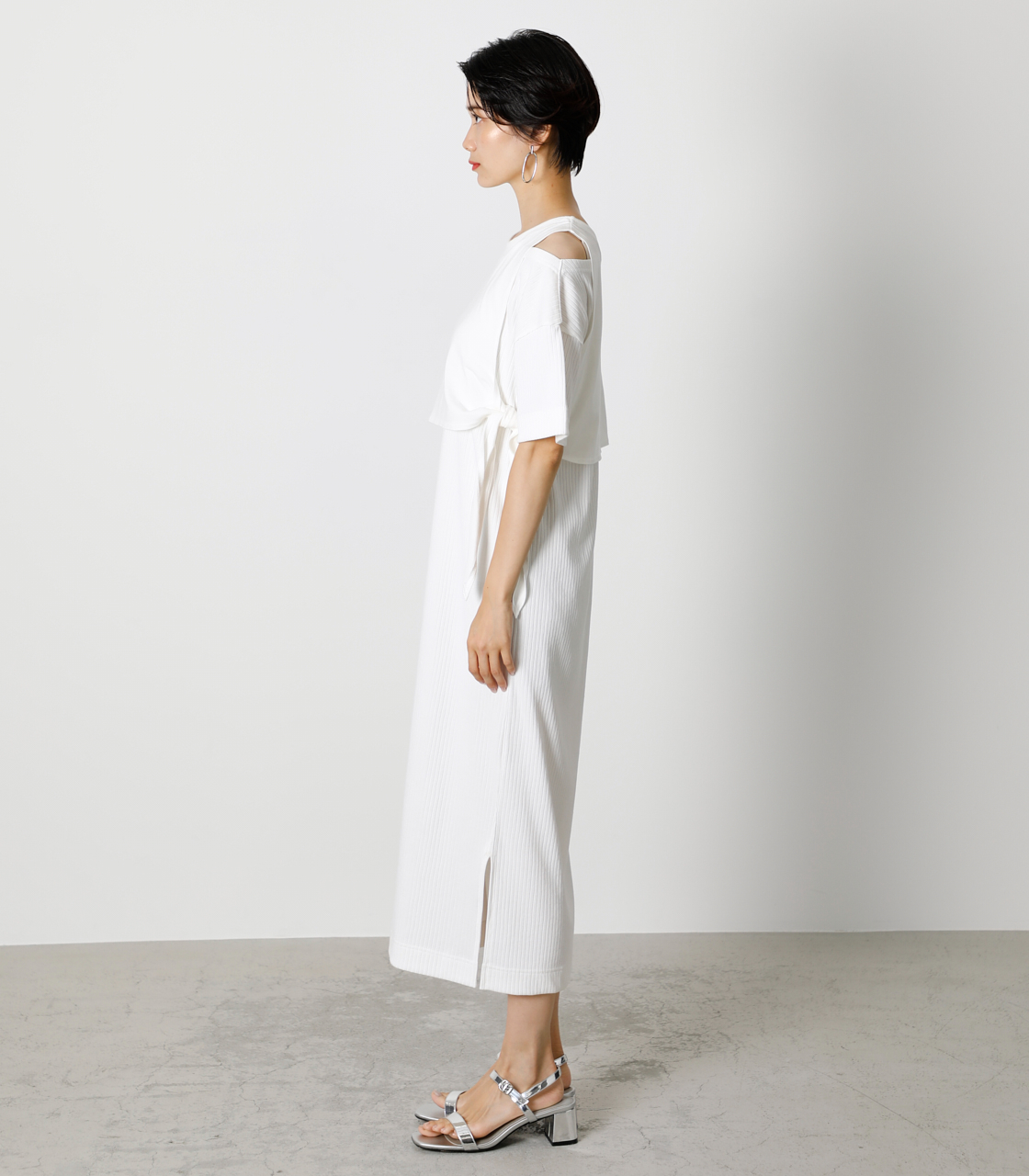 FRONT LINK ONEPIECE/フロントリンクワンピース 詳細画像 O/WHT 5