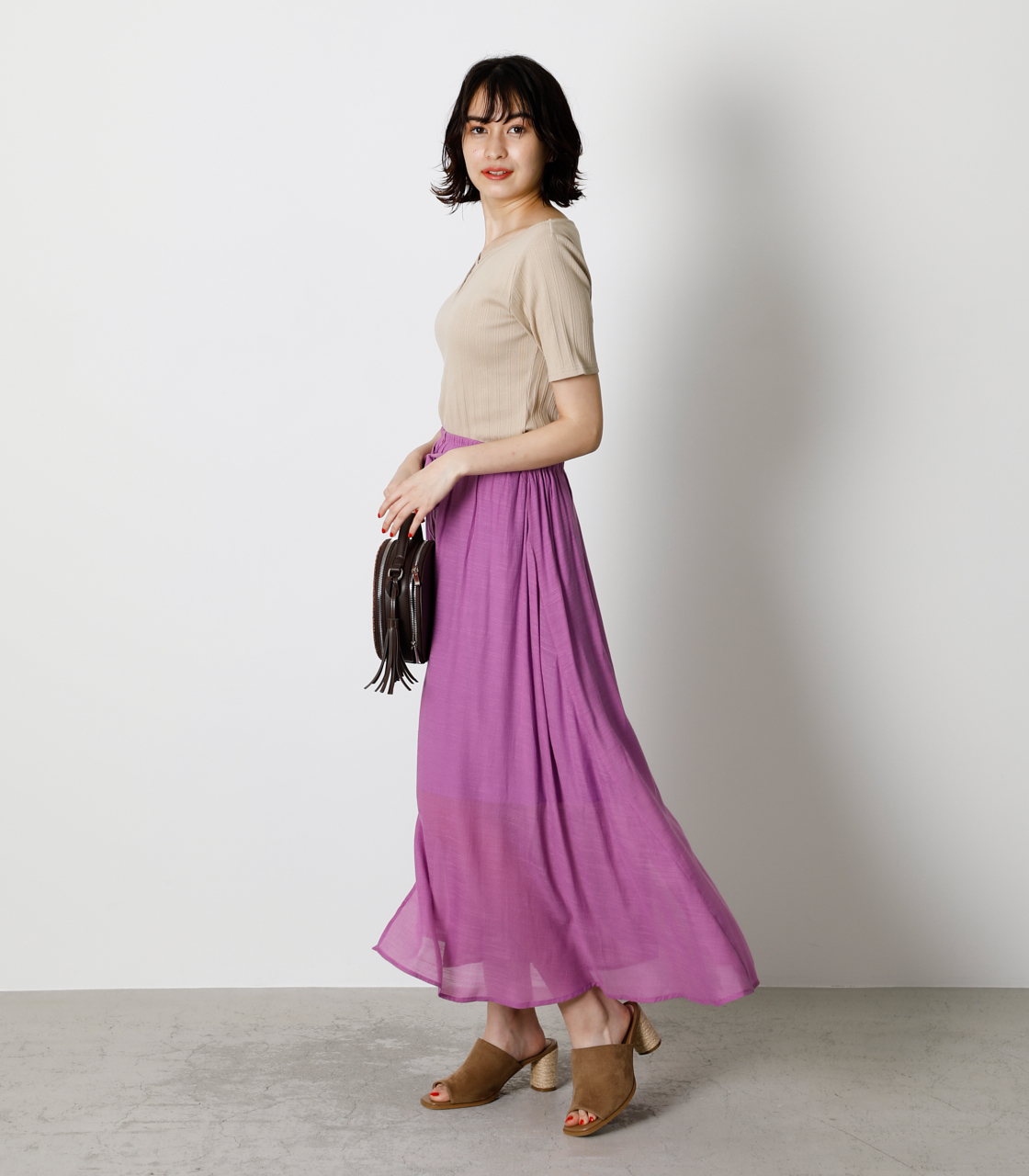 SHEER RELAX SKIRT/シアーリラックススカート 詳細画像 PUR 2