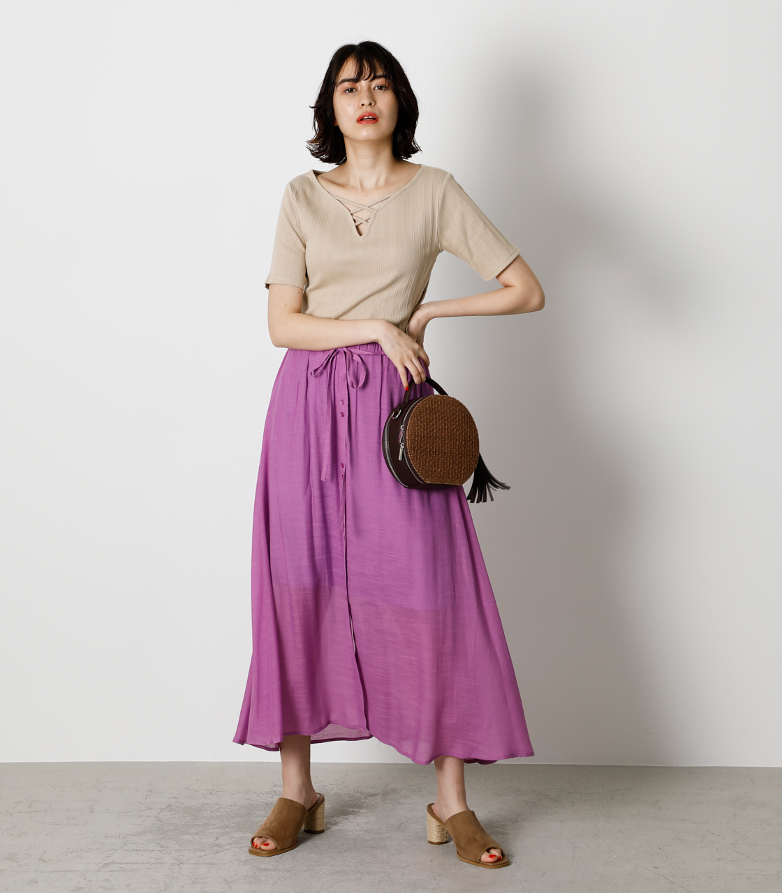 SHEER RELAX SKIRT/シアーリラックススカート 詳細画像 PUR 3