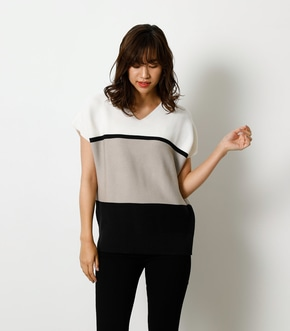 LOOSE PANEL KNIT TOP/ルーズパネルニットトップ 詳細画像