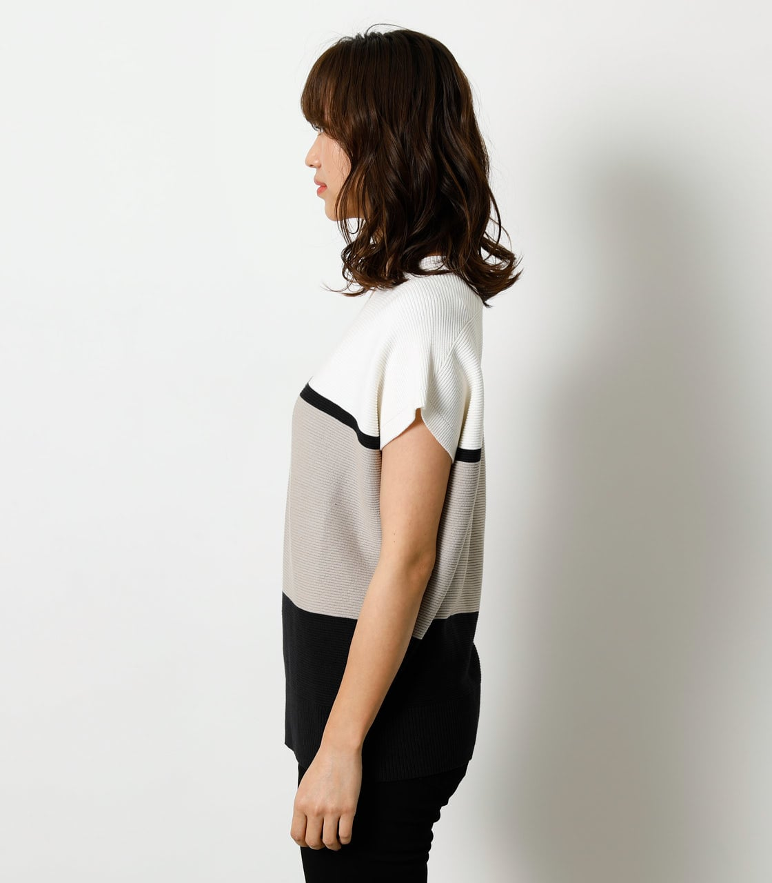 LOOSE PANEL KNIT TOP/ルーズパネルニットトップ 詳細画像 柄BEG 5