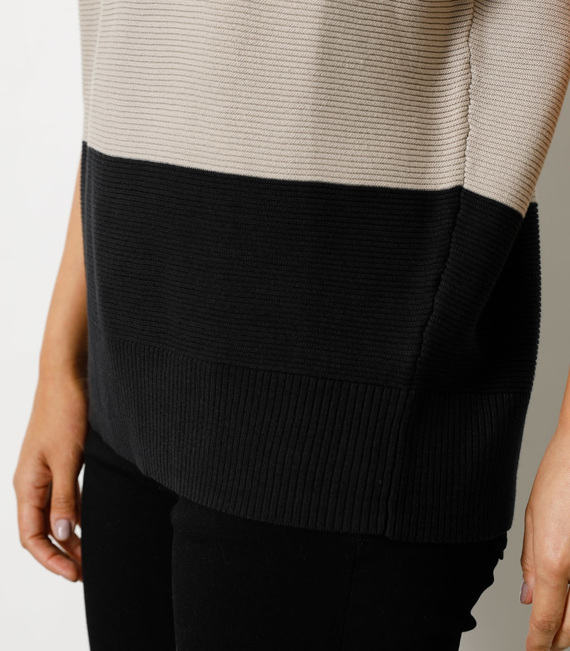 LOOSE PANEL KNIT TOP/ルーズパネルニットトップ 詳細画像 柄BEG 9