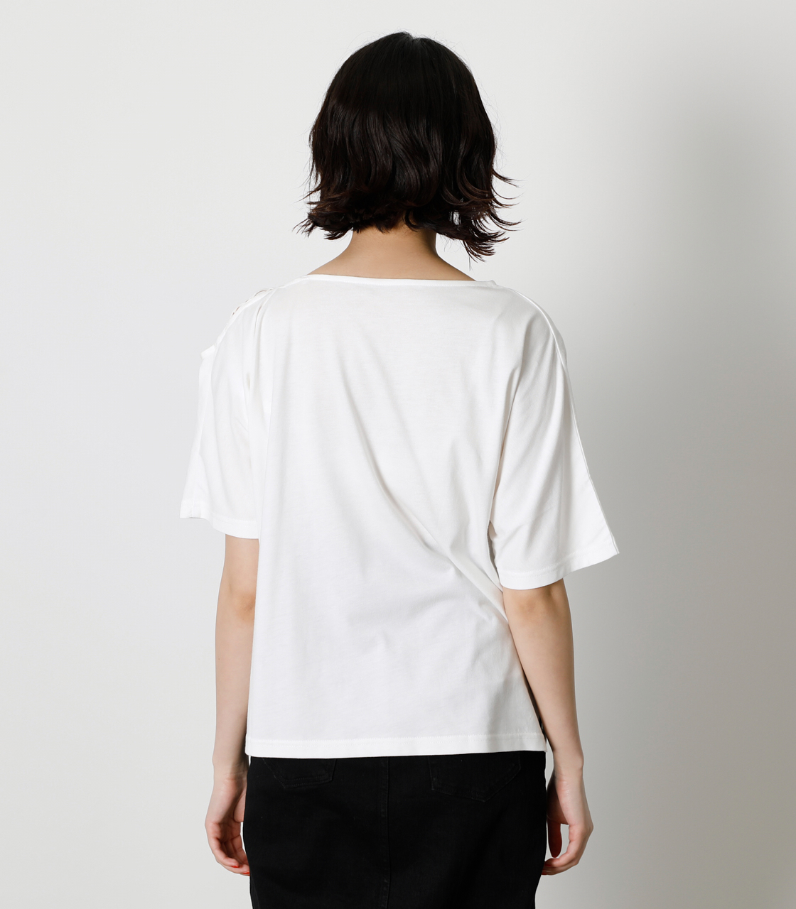 SHOULDER LACE UP TOPS/ショルダーレースアップトップス 詳細画像 O/WHT 6