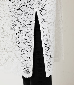 SCALLOP LACE LONG GOWN/スカロップレースロングガウン 詳細画像