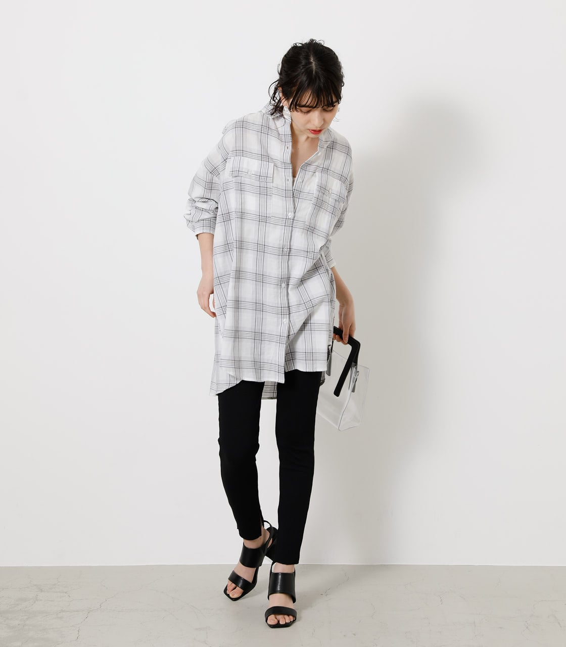 CHECK LOOSE SHIRT/チェックルーズシャツ 詳細画像 柄WHT 1