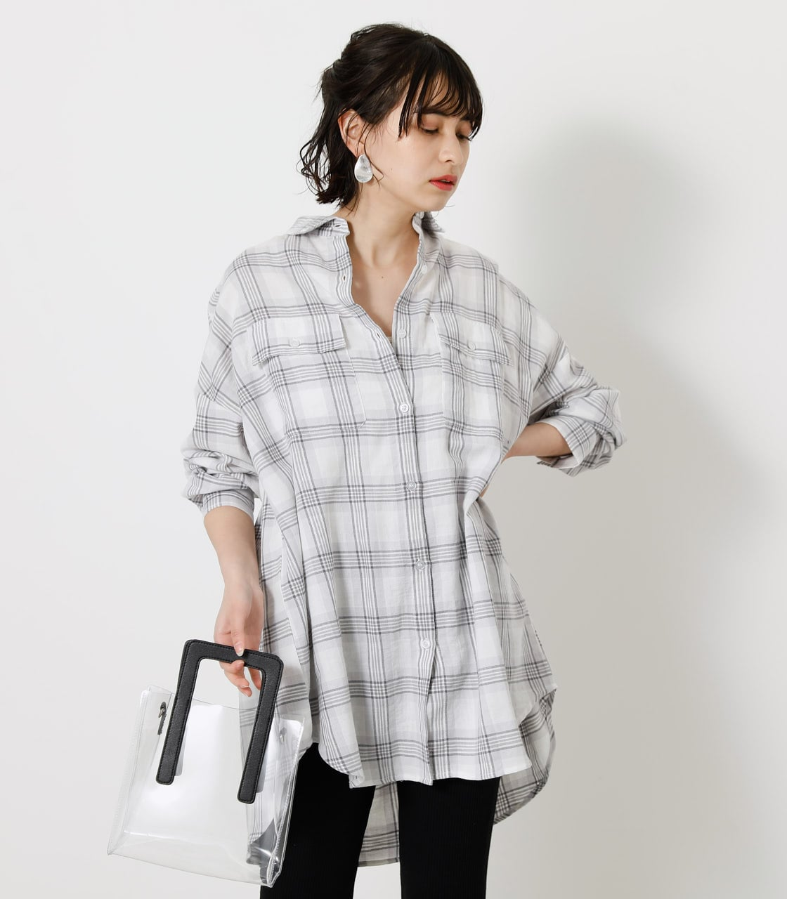 CHECK LOOSE SHIRT/チェックルーズシャツ 詳細画像 柄WHT 3