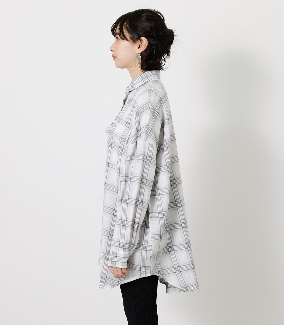 CHECK LOOSE SHIRT/チェックルーズシャツ 詳細画像 柄WHT 5