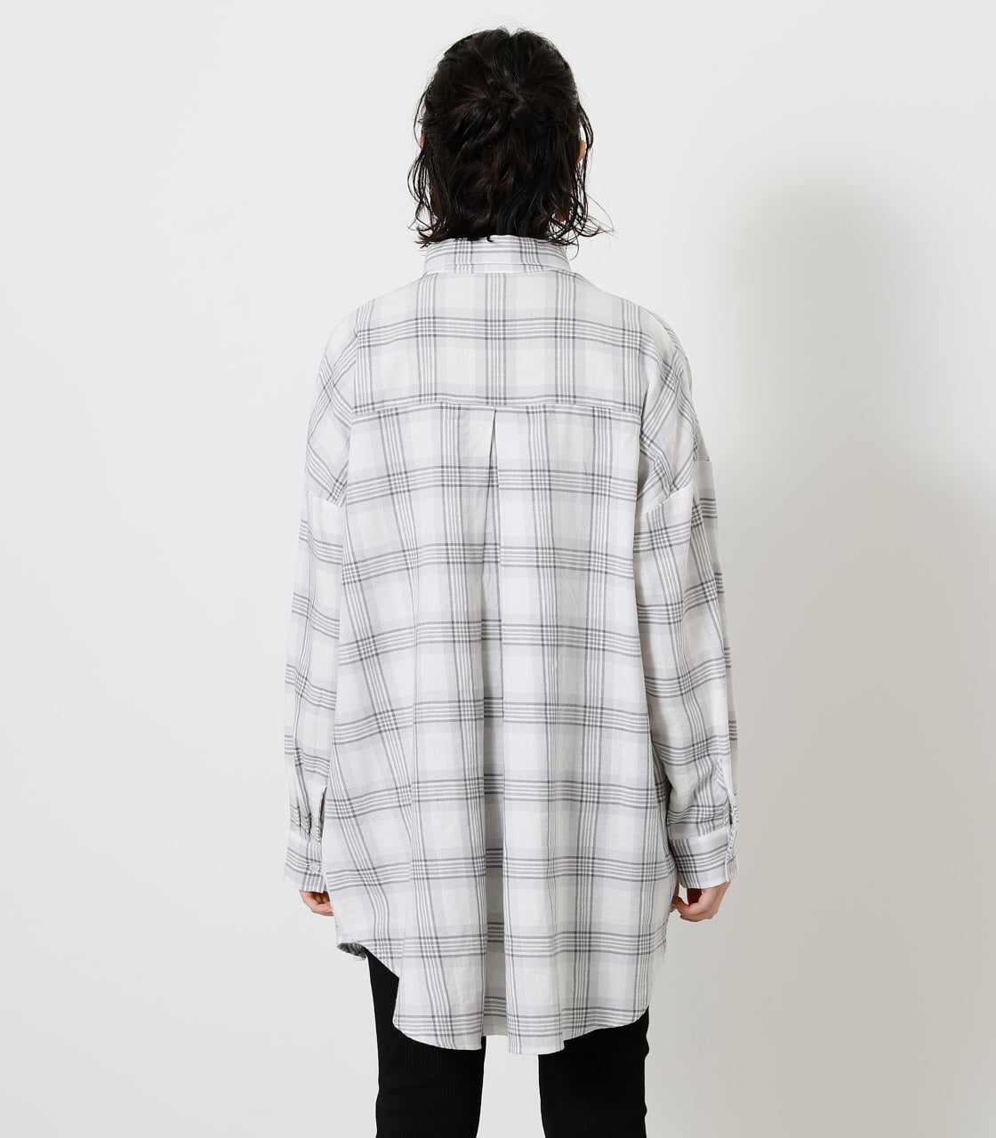 CHECK LOOSE SHIRT/チェックルーズシャツ 詳細画像 柄WHT 6