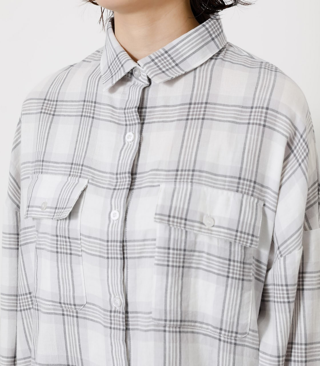 CHECK LOOSE SHIRT/チェックルーズシャツ 詳細画像 柄WHT 7