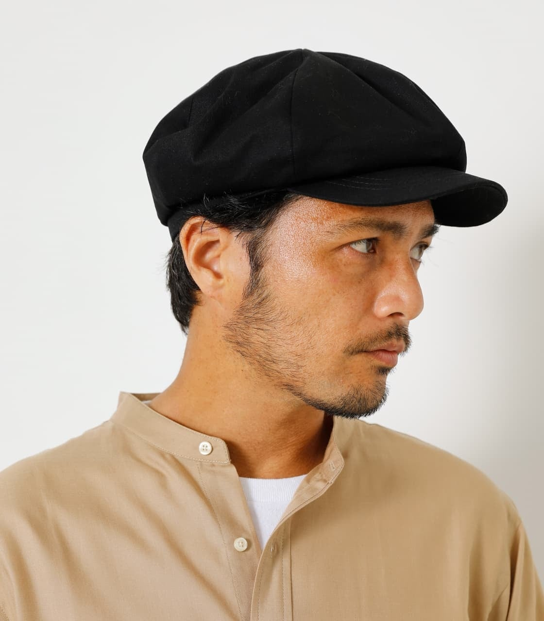 COTTON TWILL CASQUETTE/コットンツイルキャスケット 詳細画像 BLK 1
