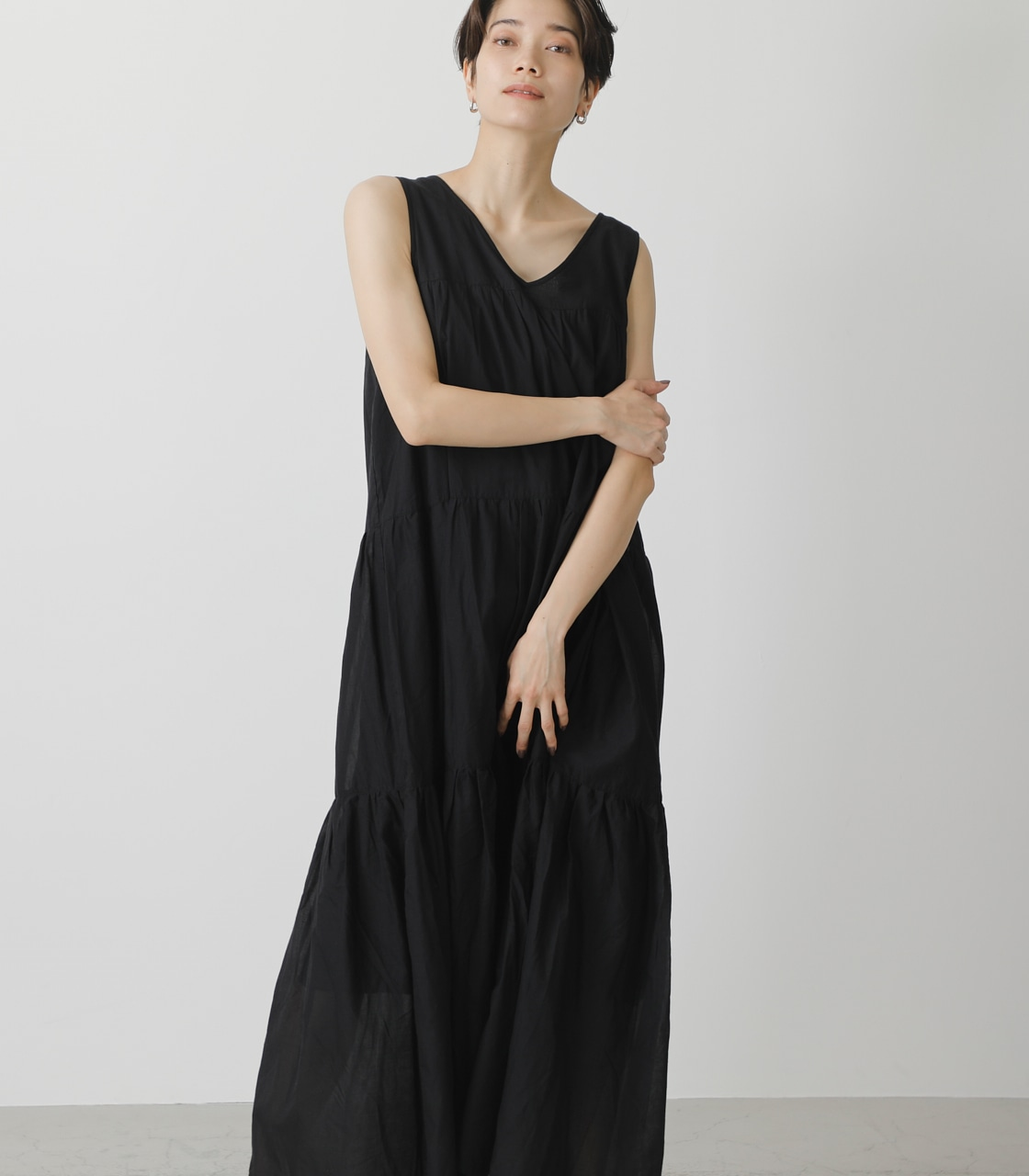 TIERED BOIL ONEPIECE/ティアードボイルワンピース 詳細画像 BLK 4