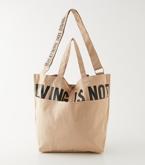 LIVING IS NOT LOGO TOTE BAG/リビングイズノットロゴトートバッグ【MOOK54掲載 90255】