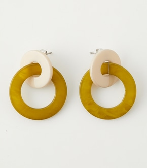 COLOR CONTRAST ROUND EARRINGS/カラーコントラストラウンドピアス