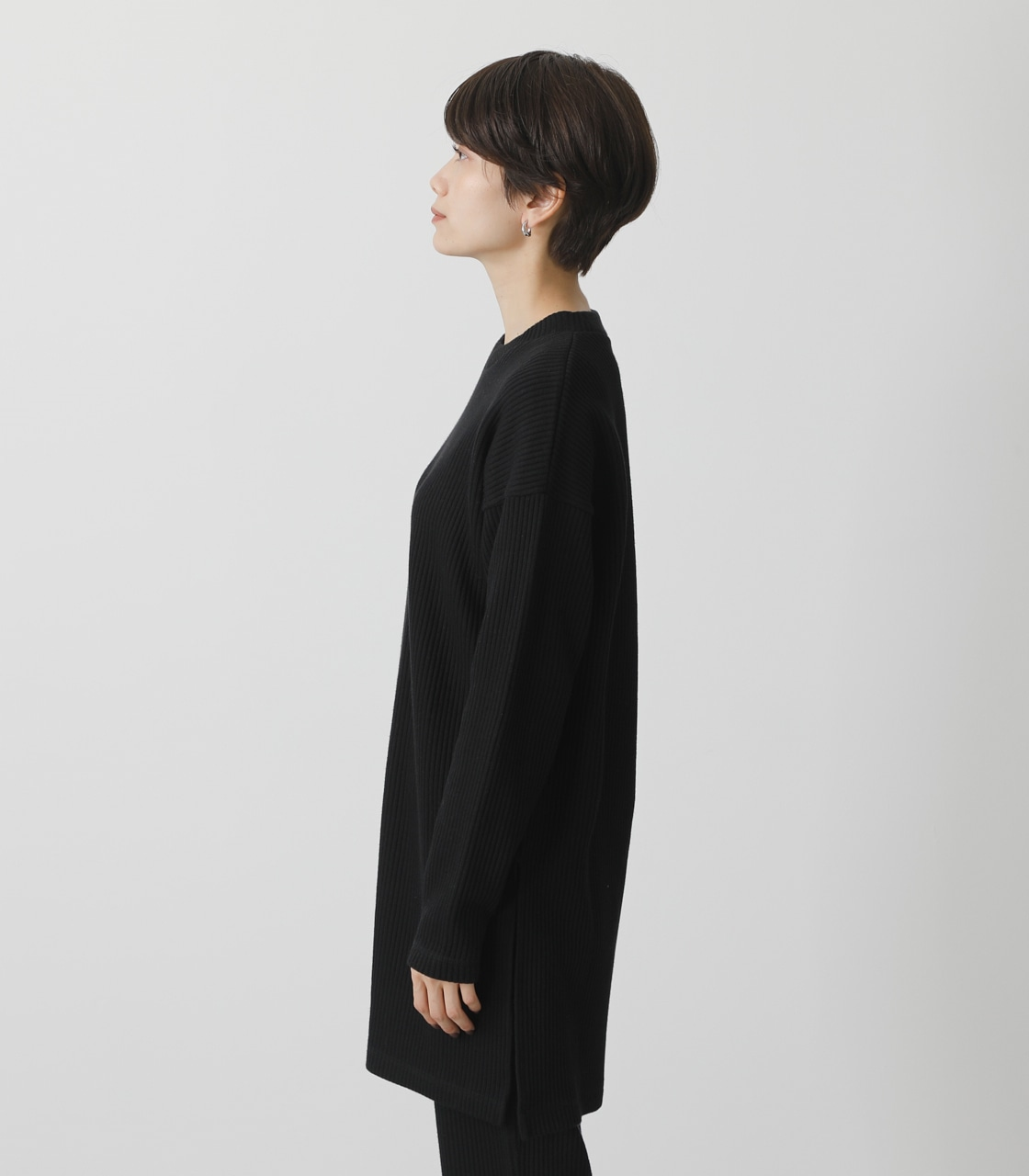 T/H SIDE SLIT LONG TOPS/T/Hサイドスリットロングトップス 詳細画像 BLK 6