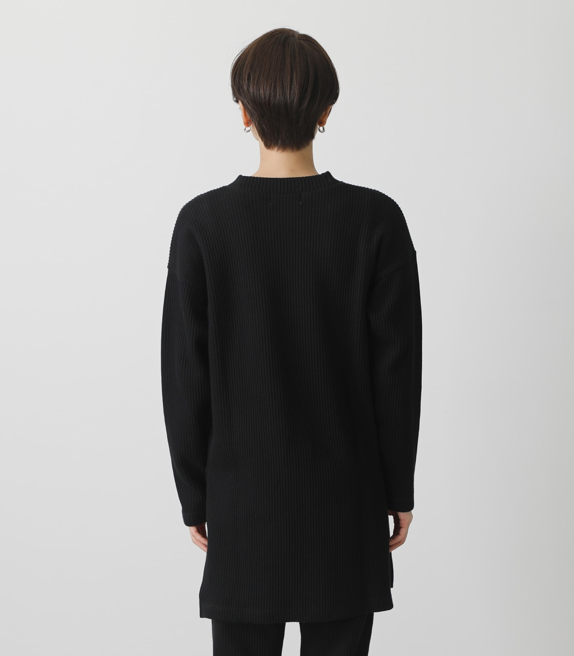 T/H SIDE SLIT LONG TOPS/T/Hサイドスリットロングトップス 詳細画像 BLK 7