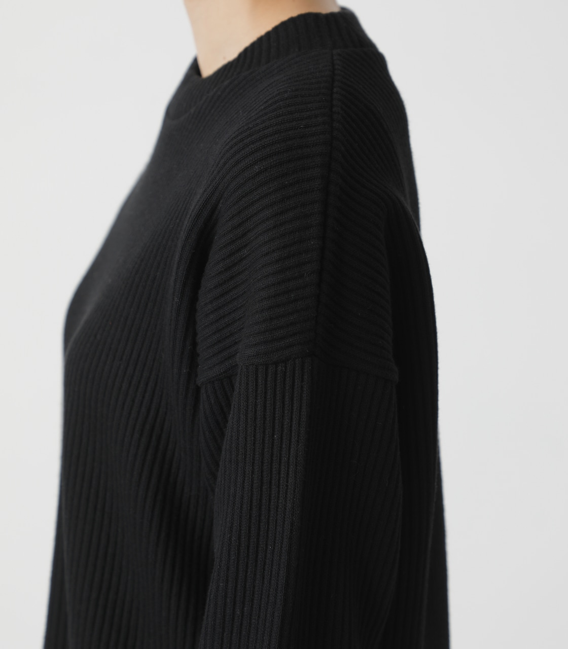 T/H SIDE SLIT LONG TOPS/T/Hサイドスリットロングトップス 詳細画像 BLK 9