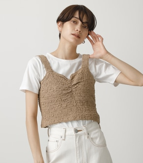 GATHER BUSTIER SET TOPS/ギャザービジターセットトップス