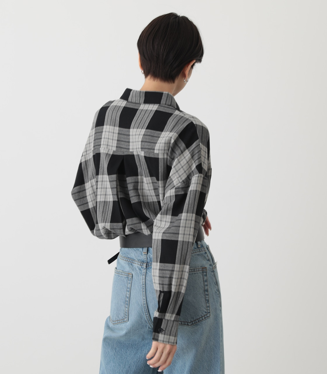 CHECK OVER SHIRT/チェックオーバーシャツ 詳細画像 柄BLK 3