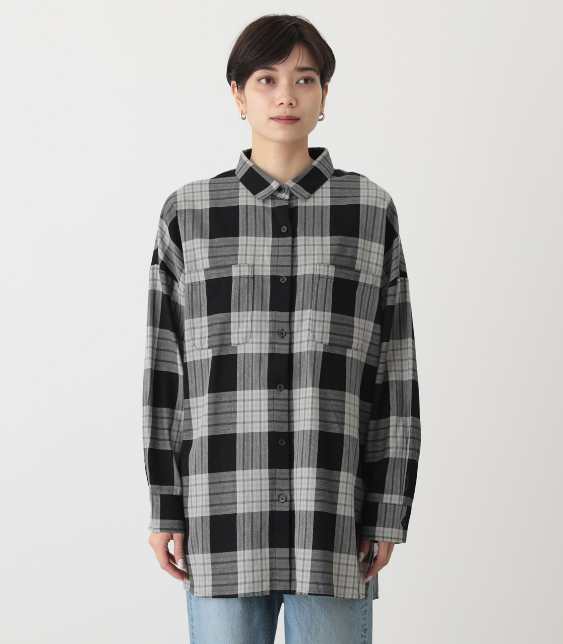 CHECK OVER SHIRT/チェックオーバーシャツ 詳細画像 柄BLK 5