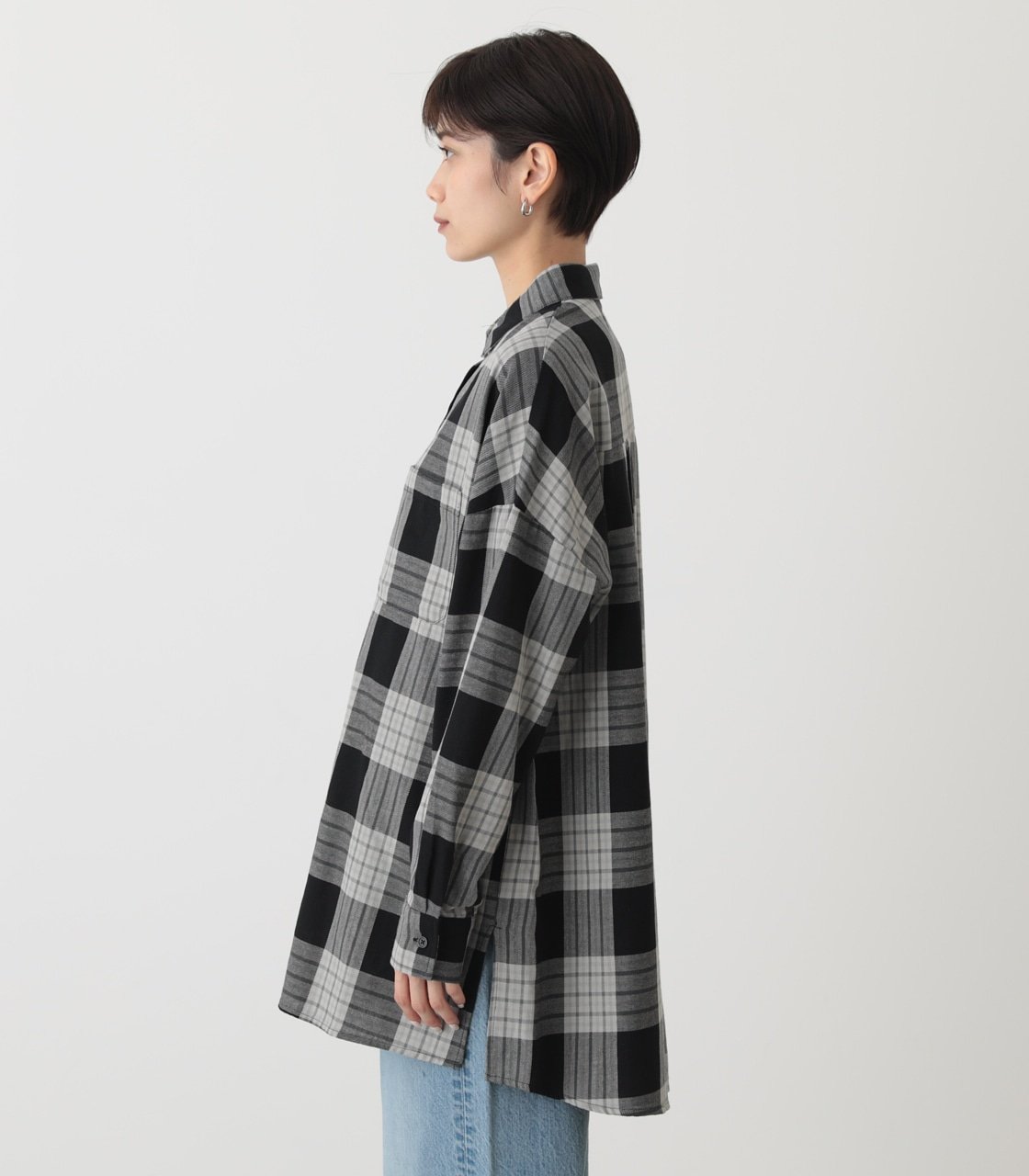 CHECK OVER SHIRT/チェックオーバーシャツ 詳細画像 柄BLK 6
