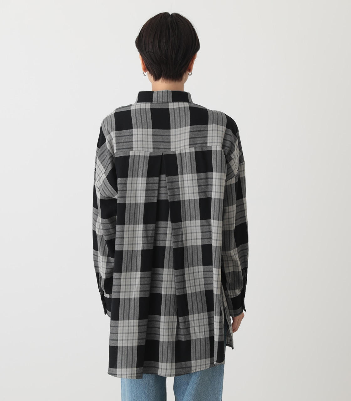 CHECK OVER SHIRT/チェックオーバーシャツ 詳細画像 柄BLK 7