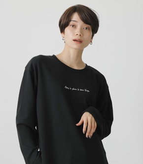 T/H PRINT LONG TEE/T/HプリントロングTシャツ 詳細画像
