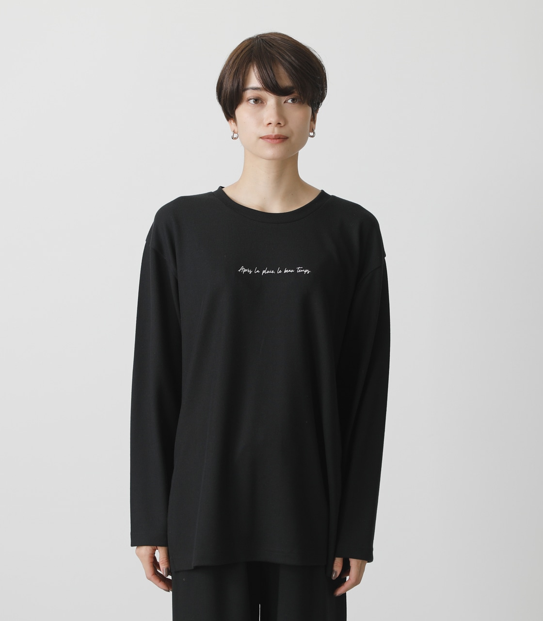T/H PRINT LONG TEE/T/HプリントロングTシャツ 詳細画像 BLK 5