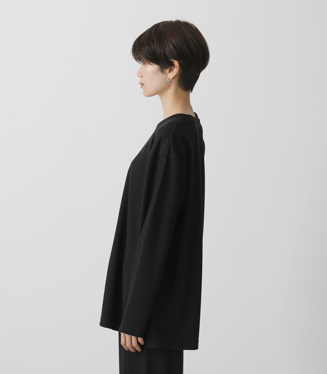 T/H PRINT LONG TEE/T/HプリントロングTシャツ 詳細画像 BLK 6