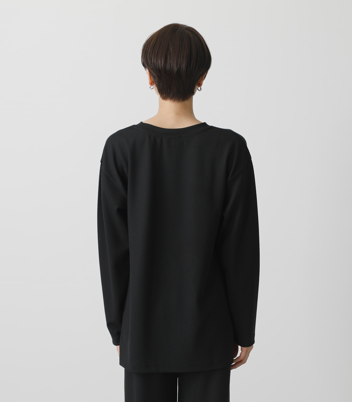 T/H PRINT LONG TEE/T/HプリントロングTシャツ 詳細画像 BLK 7
