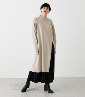 PLEATS LAYER KNIT ONEPIECE/プリーツレイヤーニットワンピース