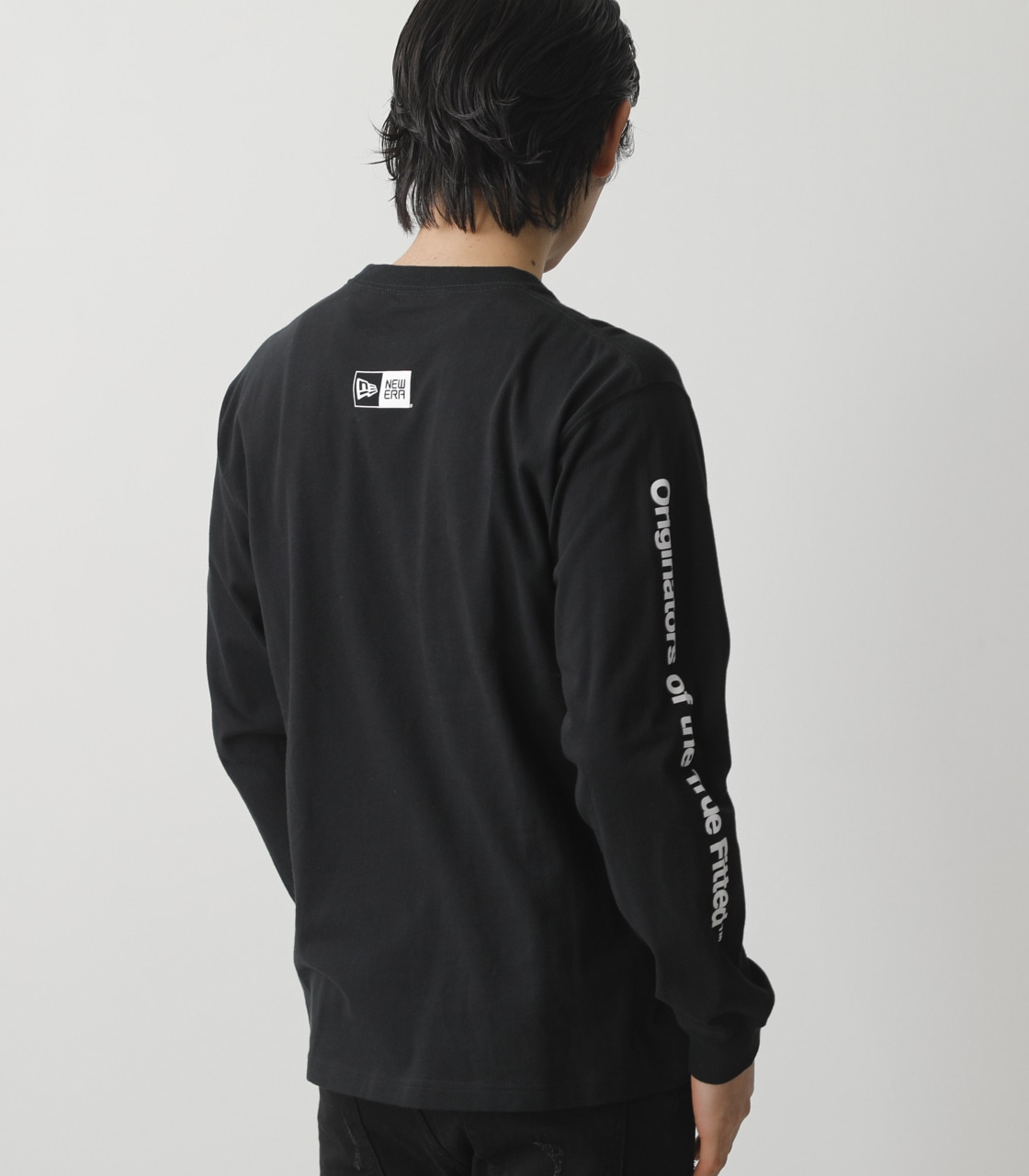 NEW ERA×AZUL LONG T-SHIRTS/NEW ERA×AZULロングTシャツ 詳細画像 BLK 2