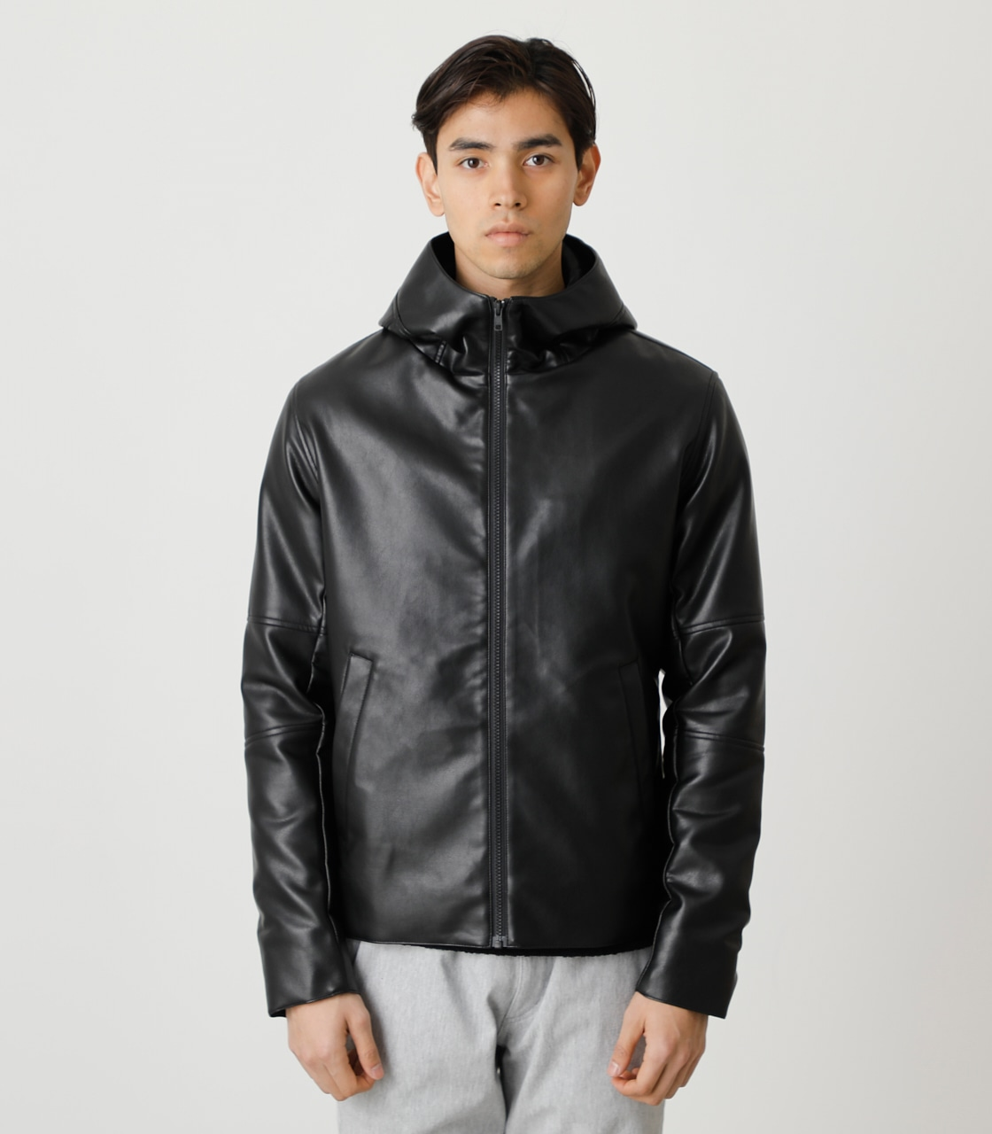 ECO LEATHER HOODED/エコレザーフーデッド 詳細画像 BLK 5