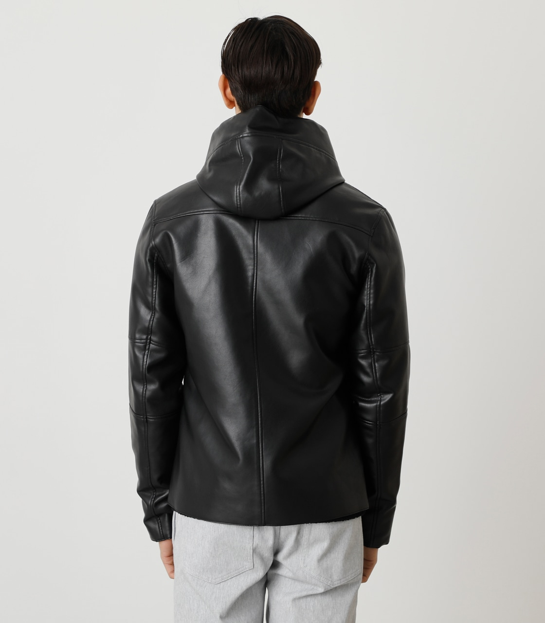 ECO LEATHER HOODED/エコレザーフーデッド 詳細画像 BLK 7