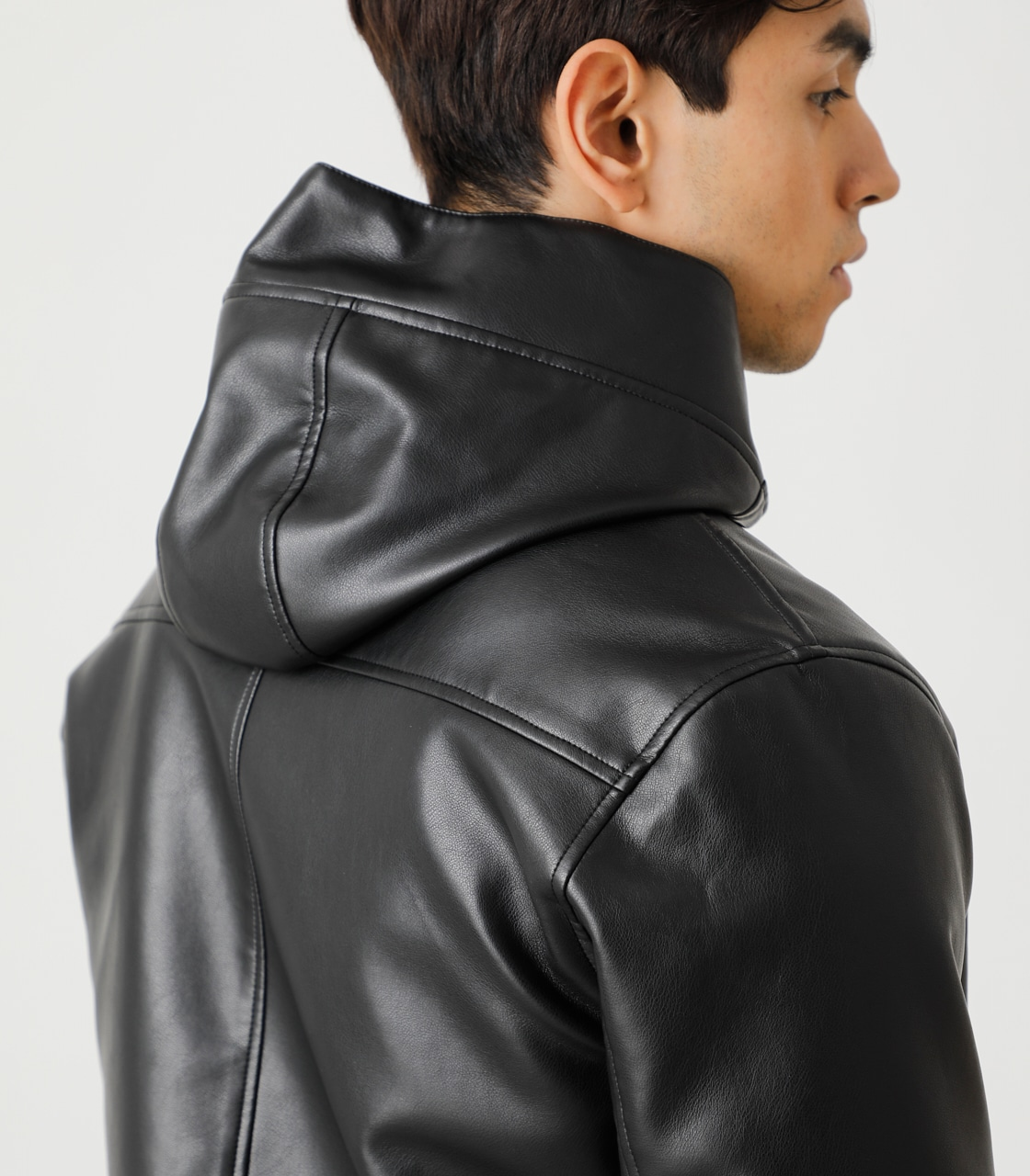 ECO LEATHER HOODED/エコレザーフーデッド 詳細画像 BLK 8