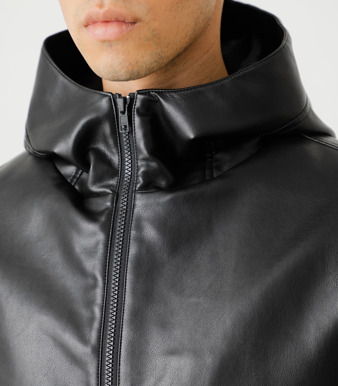 ECO LEATHER HOODED/エコレザーフーデッド 詳細画像 BLK 9