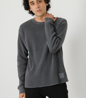 WAFFLE PIGMENT LONG TEE/ワッフルピグメントロングTシャツ