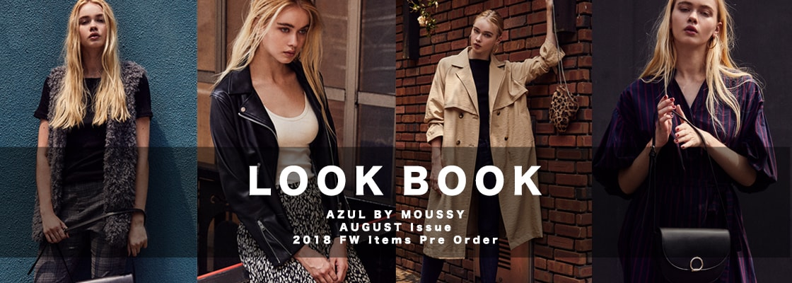 AZUL BY MOUSSY LOOK BOOK 2018 FW Items Pre Order