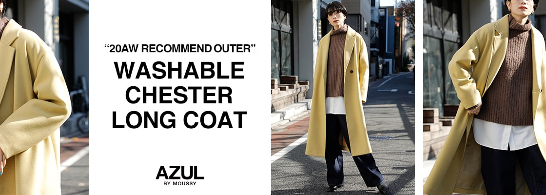 """20AW RECOMMEND OUTER"" WASHABLE CHESTER LONG COAT"