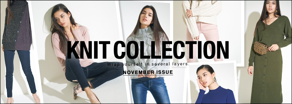AZUL BY MOUSSY KNIT COLLECTION NOVEMBER ISSUE for LADIES