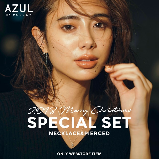 AZUL BY MOUSSY 2018 SPECIAL SET NECKLACE & PIERCED