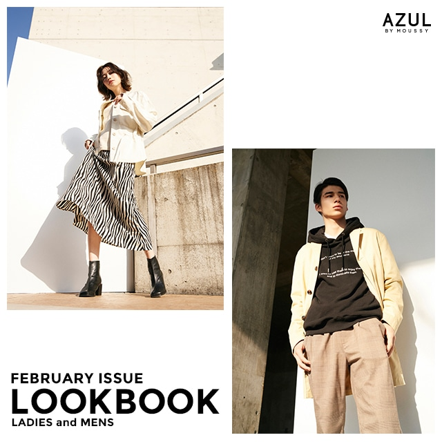 AZUL BY MOUSSY LOOKBOOK FEBRUAY ISSUE  for LADIES and MENS