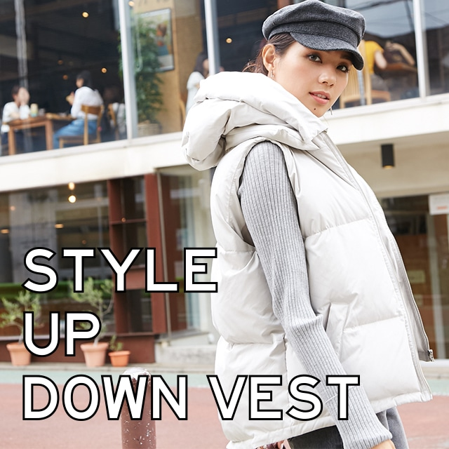 AZUL BY MOUSSY STYLE UP DOWN VEST