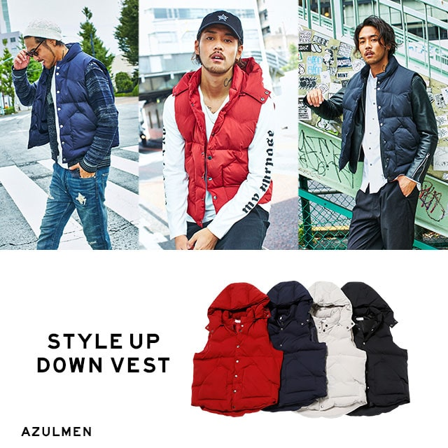 AZUL BY MOUSSY MEN'S STYLE UP DOWN VEST
