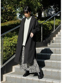 """20AW RECOMMEND OUTER"" WASHABLE CHESTER LONG COAT #BLACK"