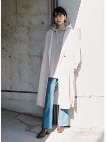 """20AW RECOMMEND OUTER"" WASHABLE CHESTER LONG COAT #L.BEIGE"