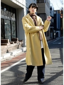 """20AW RECOMMEND OUTER"" WASHABLE CHESTER LONG COAT #L.YELLOW"